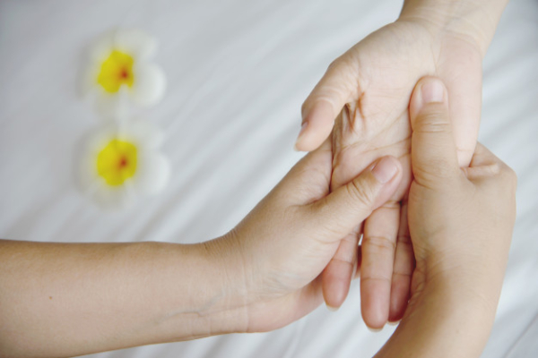 hand spa massage clean white bed people relax with hand massage service 1150 17472